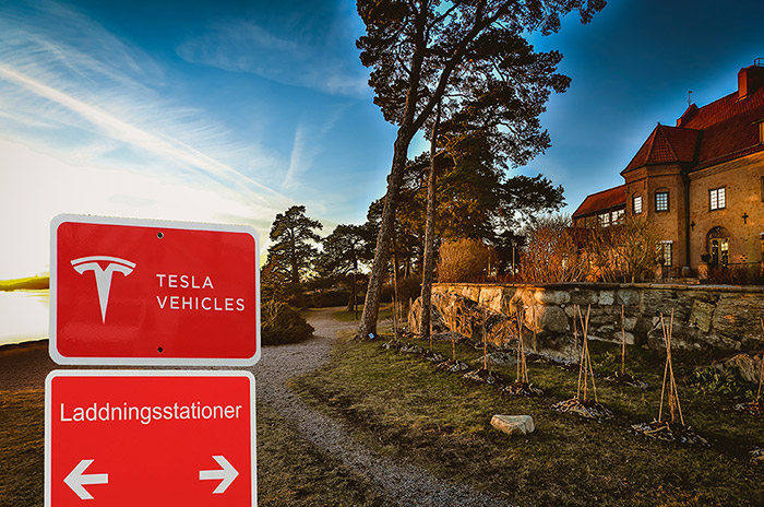 Tesla Destinationsladdare på Lidingö